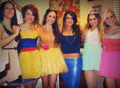 The Disney Princesses - Halloween Costume Contest via @costumeworks modest way to do this