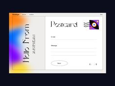 Envelope designed by Giga Tamarashvili. Connect with them on Dribbble; Book Design, App Design, Layout Design, Design Art, Lettering, Typography, Typographic Design, Mise En Page Web, Postcard Layout