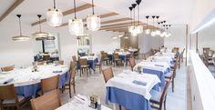Zona de comedor perspectiva general Torre Bahia #carmaninteriorismo, #proyecto, #diseño, #interiorismo, #restaurante, #mojacar