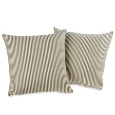 Ticking Stripe Black Decorative Throw Pillows (set of 2) | Overstock.com Shopping - The Best Deals on Throw Pillows