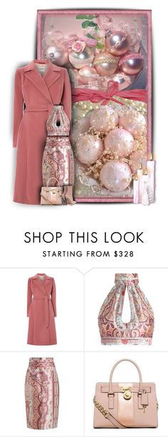 """Christmas Beginnings"" by snigi ❤ liked on Polyvore featuring Cloud Nine, Zimmermann, MICHAEL Michael Kors, Alexander McQueen, Christmas, Pink, christmastree and Christmas2015"