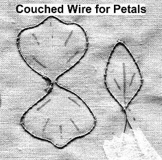 Instructions for Stumpwork petals and leaves