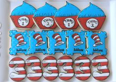 Cat in the Hat inspired cookies   Cookie Connection