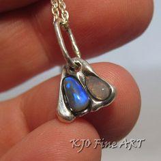 Opal jewelry  Silver pendants  Unique necklaces  by KJOFineArt