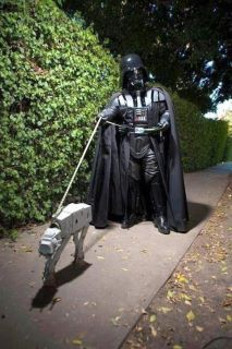 Walking the dog, sorry, the AT-AT :D.