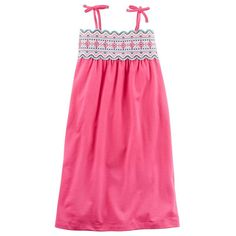 Toddler Girl Carter's Scalloped Embroidered Maxi Dress, Size: 2T, Pink