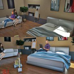 Wall texture in bedroom