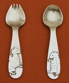 Take a look at this Dragon Spork & Spoon Set by Beehive on #zulily today - if the link no longer works, try searching the web for product and/or manufacturer