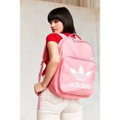 adidas Originals Classic Trefoil Backpack ($40) ❤ liked on Polyvore featuring bags, backpacks, knapsack bag, adidas, daypack bag, zip handle bags and zip bag