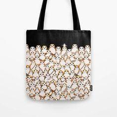 Star Wars Tote Bag Porgs Tote Bag Porgs on Black Bag The