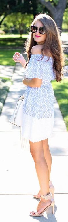 Paisley Off Shoulder Top Streetstyle by Southern Curls and pearls