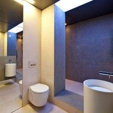 Bathroom, Modern White Bathroom: Small Bathtub For Small Bathroom