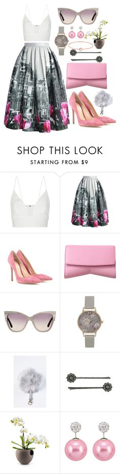 """""""Sin título #316"""" by joslynaurora ❤ liked on Polyvore featuring Narciso Rodriguez, Chicwish, Gianvito Rossi, Tom Ford, Topshop, Milly, 1928 and VANRYCKE"""