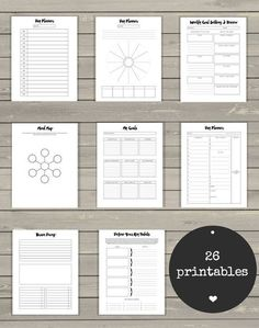This tool has helped me live my life on an upward spiral and I'm excited that it is now my best-selling product here on Etsy because that means I am getting to help so many other people do the same. It's full of 26 minimalist & elegant printables. They are crafted to help you stay organized and have clarity around your projects, goals, schedule, habits and, well, LIFE. :) #ad #printables #lifebinder