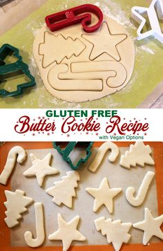 My Grandma's Traditional Gluten Free Butter Cookie Recipe with Vegan Options. It's perfect for cutting out shapes, decorating Holiday cookies & having fun! #traditional #glutenfree #vegan #holiday #butter #cookie #recipe #grandmasrecipe #modified #specialdiets #allergies #christmascookies #decorating #dyefree #natural #familyfavorite #makingmemories