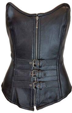 Women/'s Studded Black /& Pink Genuine Soft Lambskin Leather Corset Size S-3XL
