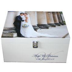 White Wedding Memory Photobox with Monogram