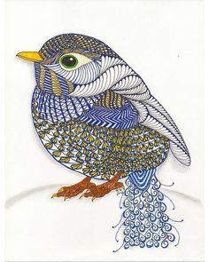 Чудесная птичка нарисованная в стиле Зентангл. Вот такую эффектную работу можно нарисовать всего за пол часа. А научиться этому можно всего…