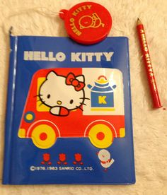 My 1983 HELLO KITTY notebook with Tiny mirror in front