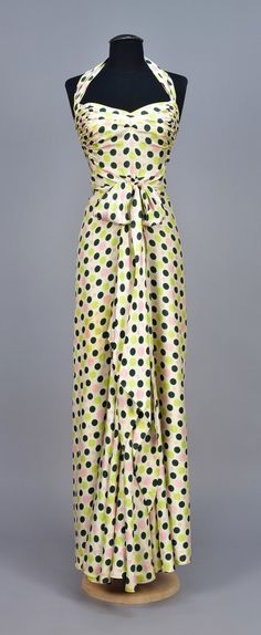 Dress, silk, Maggy Rouff designer, French, 1930s