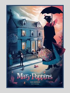 Mary Poppins screenprinted poster by Zeb Love