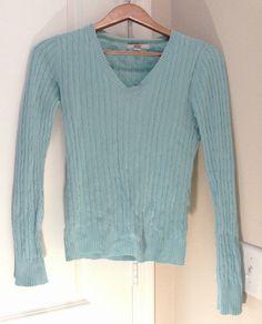 MERONA LIGHT BLUE V NECK LONG SLEEVE SWEATER SIZE SMALL JUNIORS #Merona #Sweater