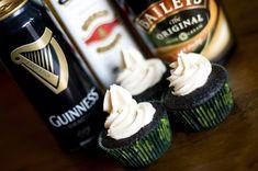 Irish car bomb cupcakes - yummy!