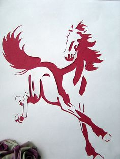 horse papercutting by Evelynz27, via Flickr