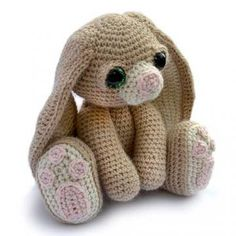 Benedict the bunny amigurumi pattern by Patchwork Moose (Kate E Hancock)
