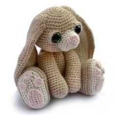Benedict the bunny amigurumi pattern by Patchwork Moose (Kate E Hancock)
