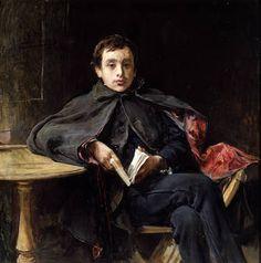 """""""La lección de memoria"""", Ignacio Pinazo Camarlench (1898)"""