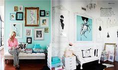 Adore Magazine April/May 2013 - Turquoise Studio, a beautiful color scheme