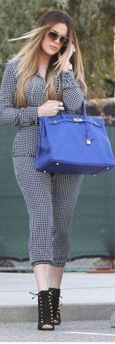 Khloe Kardashian: Purse – Hermes  Jumpsuit – Theory  Shoes – Giuseppe Zanotti   Daranda Jumpsuit in Crossgrid Silk Theory at ShopStyle