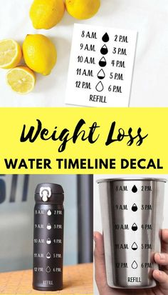 This is a good thing. *Water Intake Tracker, Water Timeline Decal, #Decal, #Water Bottle #VinylDecal, #WeightLossDrink #etsy#ad