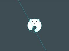 construction -simplified bear in motion