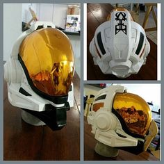 """""""A custom RvB The Meta themed Halo 4 Orbital Helmet I did for a client. Really liked how this came out. I have casts available PM for details. Casted in @smoothon smooth-cast 65d the visor is see through hydrochromed vacuum formed petg plastic. #halo4 #halo #haloprops #haloarmor #halocosplay #halocostume #unsc #spartan #spartan4 #spartanarmor #xbox #propbuilder #cosplay #cosplayer #redvsblue #themeta #343industries #smoothon @ramaterials #haloprops #instagood #awesome"""" : @bmp_props"""
