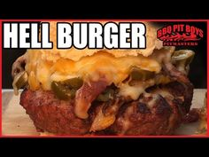 Hell Burger Bacon Cheeseburger recipe by the BBQ Pit Boys - YouTube