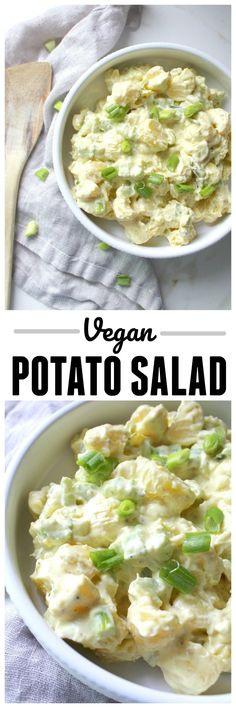 Make a summer favorite plant-based with this super simple (and delicious) Vegan Potato Salad. A new age take with all of the classic flavors   ThisSavoryVegan.com