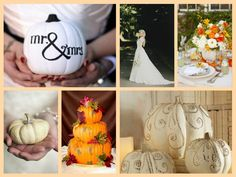 Fall theme wedding