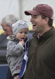 Isla Phillips and her father Peter attend the Whatley Manor International Horse Trials at Gatcombe Park on 21 Sep 2013
