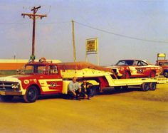 Toy Hauler Trailers, Old Race Cars, Dirt Track Racing, Vintage Race Car, Rigs, Cars And Motorcycles, Cool Cars, Monster Trucks, America
