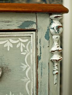 Give Plain Nightstands Rustic Charm With Milk Paint : Page 02 : Decorating : Home & Garden Television