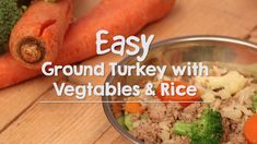Turkey isn't just for Thanksgiving. It is the perfect accompaniment to homemade dog food. pot dog food recipes turkey Ground Turkey with Vegetables & Rice Dog Food Dog Treat Recipes, Dog Food Recipes, Healthy Recipes, Dinner Recipes, Turkey Dog Food Recipe, Make Dog Food, Best Dog Food, Pet Food, Frozen Dog Treats