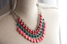 DIY Necklace  : DIY: Neon Necklace Painting