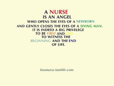 I have not been able to actually open the eyes of a newborn but close enough...just hearing the first cry is amazing; and taking the time to be with a dying person is the most thoughtful and best gift anyone can give a loved one or a stranger.