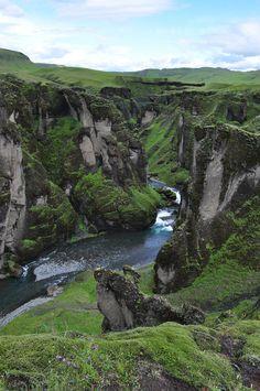 Fjardrargljufur Canyon, Iceland photo via necole