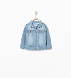 Denim jacket-Jackets-Baby girl (3 months - 3 years)-KIDS | ZARA United States