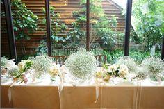 テーブルもかすみ草で埋めつくして♡かすみ草テーブルコーディネート総まとめ♡ にて紹介している画像