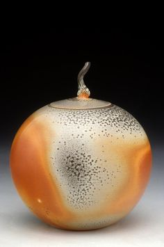 John Tilton  |  Soda-fired canister, with a beautiful flame pattern.