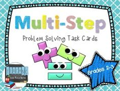 Get your students using their brains and really thinking with these multi-step problem solving task cards.  With these task cards, students will need to organize their work while solving 2 or 3 different steps before arriving at the answer.  These task cards include real life problems.